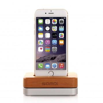 Drewniany Bambusowy Aluminiowy Uchwyt do Telefonu SAMDI