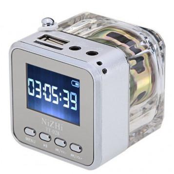 Mini przenośny odtwarzacz muzyki Radio FM TT-028 USB SD