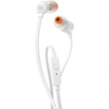 Słuchawki przewodowe dokanałowe JBL by Harman T110 z mikrofonem Białe