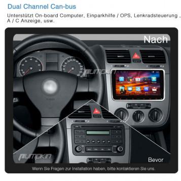 Radio nawigacja 8'' VW Skoda Seat