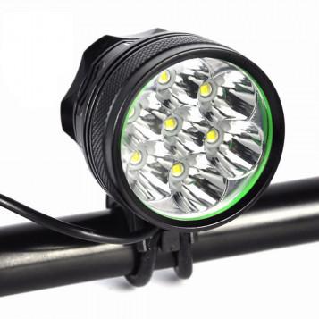Super jasny reflektor rowerowy WasaFire XML T6 8000 lumenów
