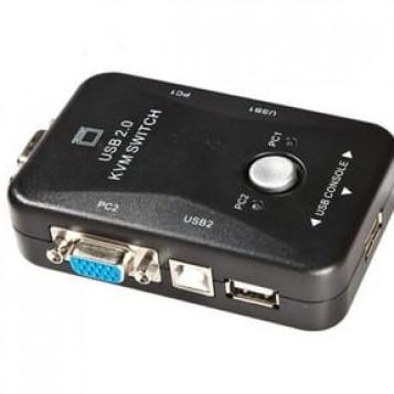 Adapter przejściówka KVM-4P USB VGA MT-Viki 4 porty Full HD