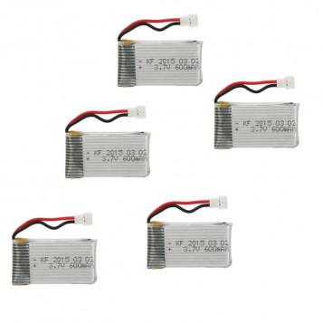 Zestaw 5 baterii LiPO do Syma JJRC 650mAh RM2379