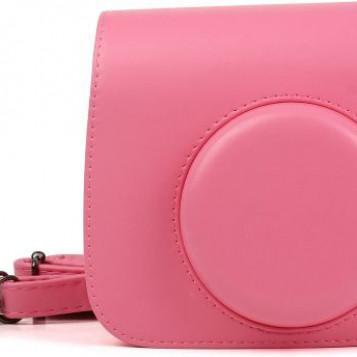 Skórzany futerał ochronny Fujifilm Instax Mini różowa