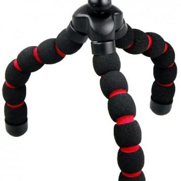 Mini tripod elastyczny statyw do kamerki telefonu Armor-X czarny czerwony