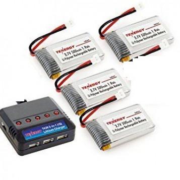 Ładowarka z bateriami 3.7V LiPO T453 3.7V 380mAh