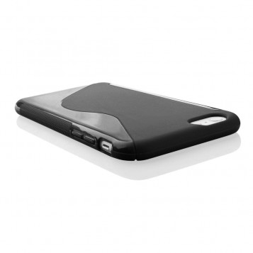 Silicone etui obudowa do iPhone 6 plus 6S plus kolor czarny