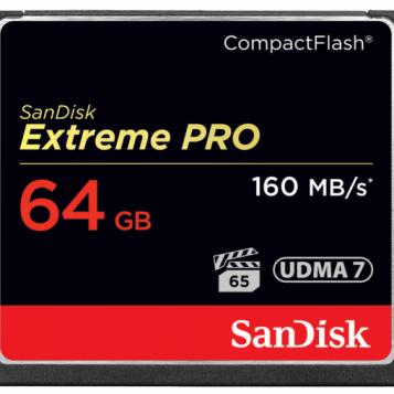 Sandisk extreme pro 64GB UDMA7 4K 160MB/s