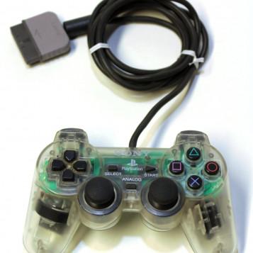 Przewodowy kontroler Dual Shock SCPH-1200 do konsoli PlayStation przezroczysty