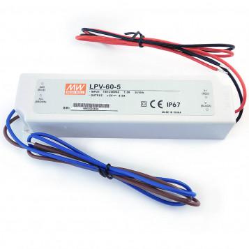 Zasilacz LED MEAN WELL LPV-60-5 40W 5VDC 8A IP67