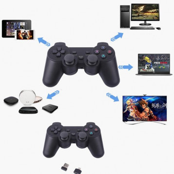 Kontroler bezprzewodowy PAD do PS3 analog cyfrowy 2.4G