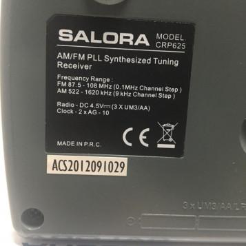 Przenośne radio cyfrowe FM AM Salora CRP625