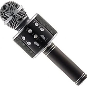 Bezprzewodowy mikrofon Bluetooth do karaoke WS-858 czarny