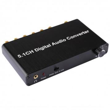 Konwerter DAC dekoder dźwięku 5-kanałowy 5.1 Toslink HDTV 2CH