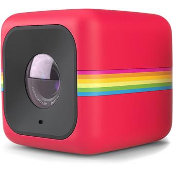 Mini kamera sportowa Polaroid Cube+ QHD 1440P WiFi czerwona