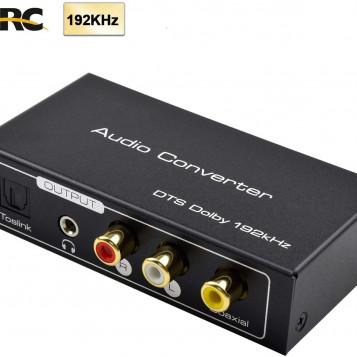 Ekstraktor konwerter adapter HDMI do RCA SPDIF 4K Amanka DAC 192KHz ARC