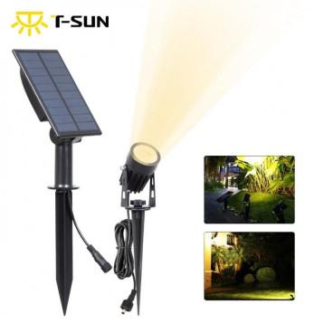 Reflektor punktowy wodoodporny zewnętrzny panel słoneczny solar TS-S4201 6000K