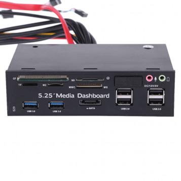Wielofunkcyjny czytnik kart na panelu przednim USB 2.0 i USB 3.0 ESATA